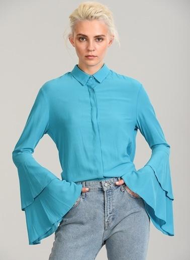 Kolları Volanlı Gömlek-People By Fabrika